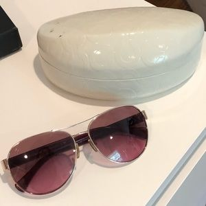 Burgundy Coach Sunglasses